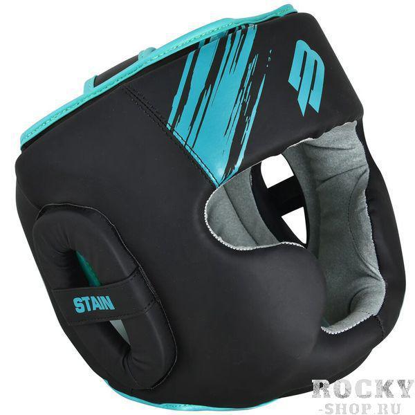 Шлем для бокса BoyBo Stain Full Face BH400 Black/Blue Boybo