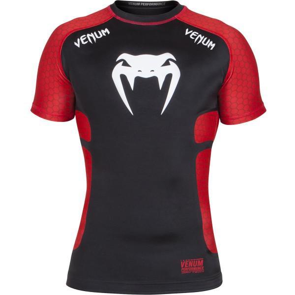 Купить Рашгард Venum Absolute Compression T-Shirt - Black/Red Short Sleeves (арт. 3632)