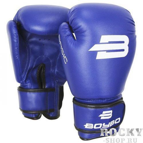 Детские боксерские перчатки BoyBo Basic Blue, 4 OZ Boybo