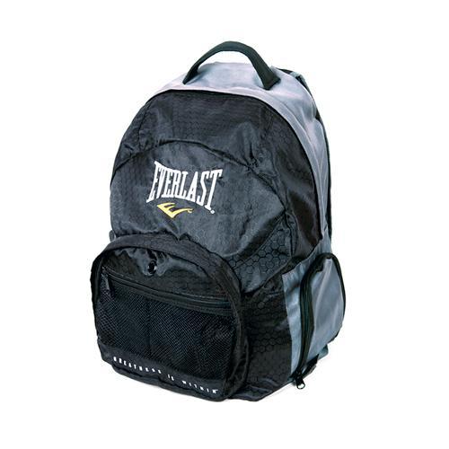 """Рюкзак Everlast Back Pack EverlastСпортивные сумки и рюкзаки<br>Усиленная ручка, для переноса.Дополнительные ремни помогают обеспечить хорошую фиксацию рюкзака на спине.Система спинки обеспечивает отличную вентиляцию и комфорт при переноске. Удобный внешний карман на молнии. Два карамана-сетки. А так же множество других карманов. Технология EverCool™-дышащая ткань и система вентиляции. Материал полиэстер. Размен:12"""" x 18"""" x 10""""<br>"""