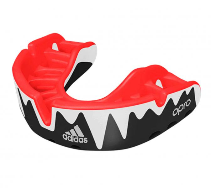Капа одночелюстная Opro Platinum Gen4 Self-Fit Mouthguard черно-бело-красная Adidas