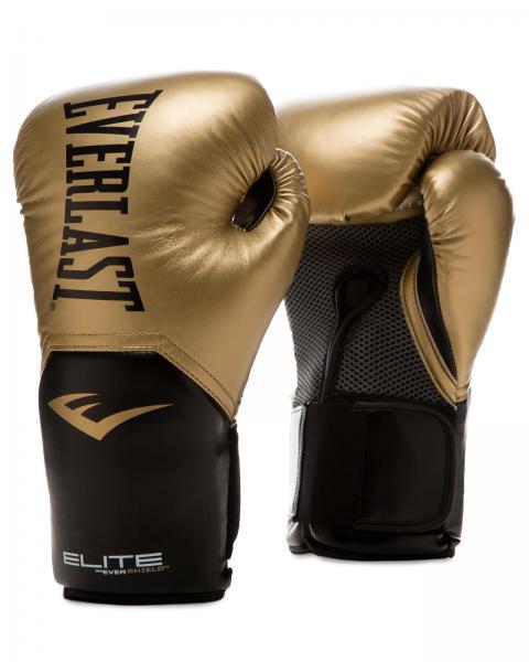Перчатки боксерские Everlast New Pro Style Elite, Gold, 12 OZ Everlast