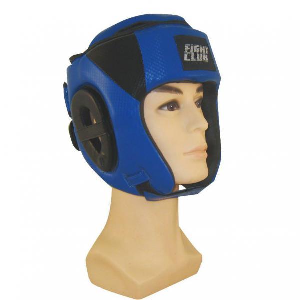 Шлем для бокса с закрытым верхом Fight Expert Blue Flamma