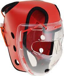 Шлем защитный Wacoku с маской для чанбара детский, синий Flamma