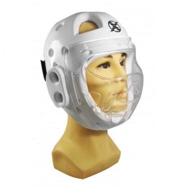 Шлем с маской Fight Expert White Flamma
