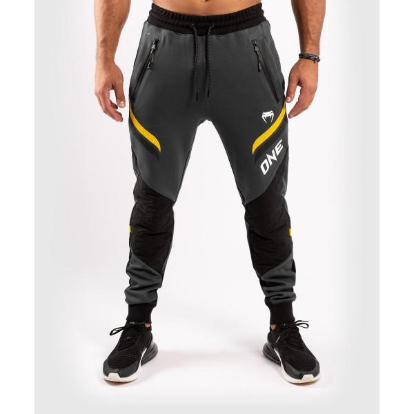 Брюки спортивные Venum ONE FC Impact Grey/Yellow Venum
