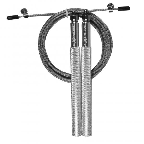 Скоростная скакалка с металлическими ручками Fight Expert 08G Silver Flamma