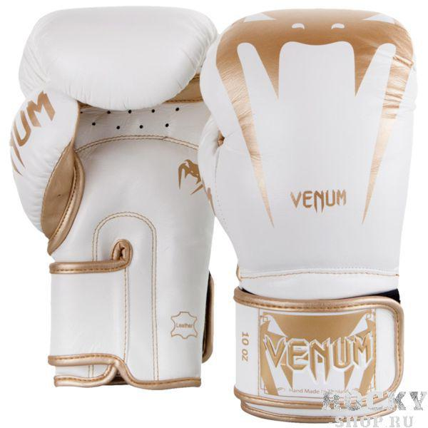 Боксерские перчатки Venum Giant 3.0 White/Gold, 10 oz Venum