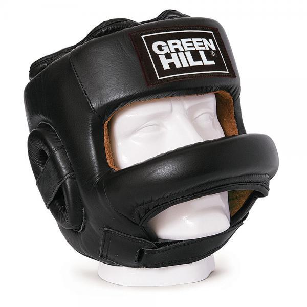 Боксерский шлем с бампером Green Hill Fort, черный Green Hill