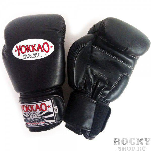 Перчатки боксерские Yokkao Basic Gloves Velcro Black (BYGS-1 Black)