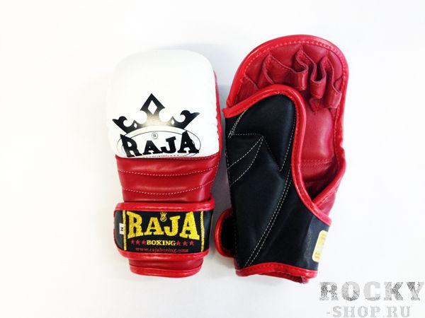 Купить Перчатки MMA, липучка Raja размер m белый (арт. 376)