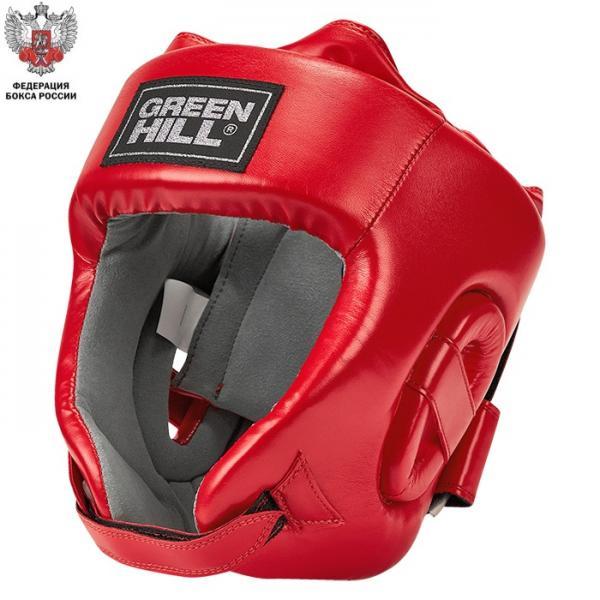Боксерский шлем CHAMPION одобренный Федерацией Бокса России красный Green Hill