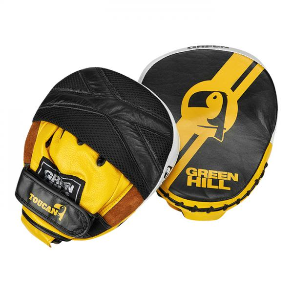 FMT-5267 Боксерские лапы TOUCAN черно-желтые Green Hill