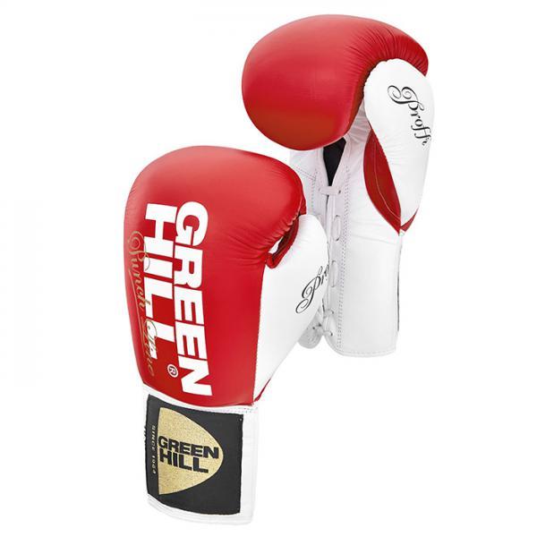 Боксерские перчатки PROFFI красно-белые, 10oz Green Hill