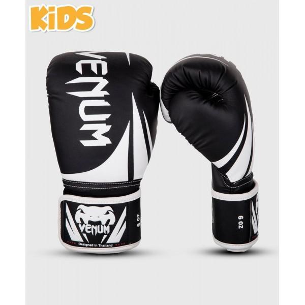 Перчатки боксерские детские Venum Challenger 2.0 Kids Black/White, 8 унций Venum