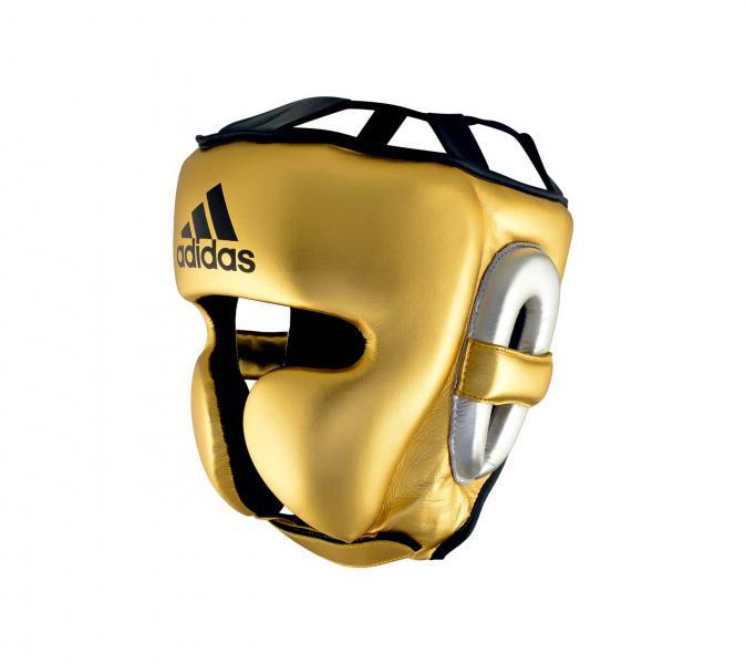 Шлем боксерский AdiStar Pro Metallic Headgear золото-серебристо-черный Adidas