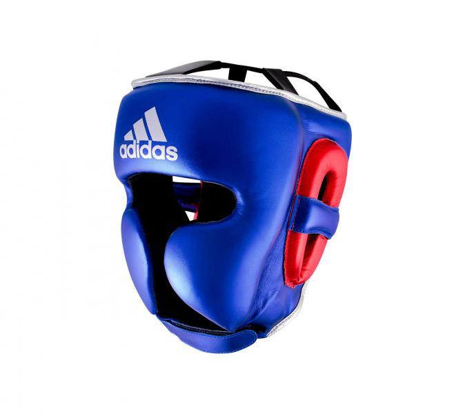 Шлем боксерский AdiStar Pro Metallic Headgear сине-красно-серебристый Adidas