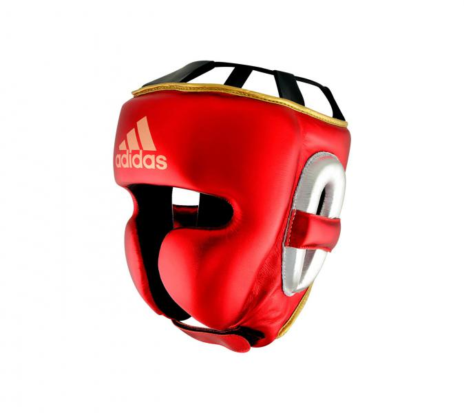 Шлем боксерский AdiStar Pro Metallic Headgear красно-серебристо-золотой Adidas