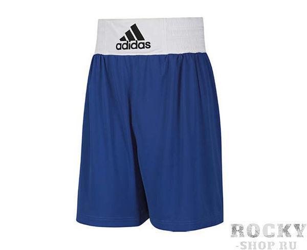 Шорты боксерские Base Punch Short синие, синие AdidasШорты для бокса<br>Форма боксерская ADIDAS Base Punch Boxing. Материал: 100% Полиэстер. Мягкая, легкая ткань ClimaLite&amp;reg; для превосходящего управления влажностью. Эластичный пояс (в области талии). Улучшенный комфорт и свобода передвижения.<br>