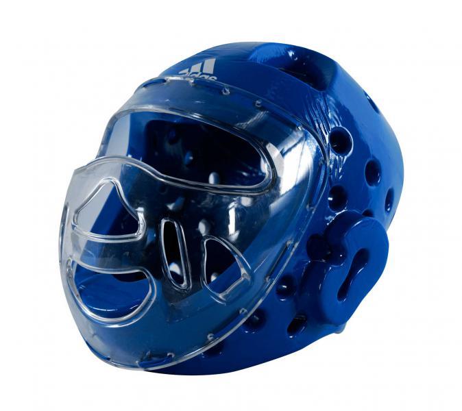 Шлем для тхэквондо с маской Head Guard Face Mask WT синий Adidas