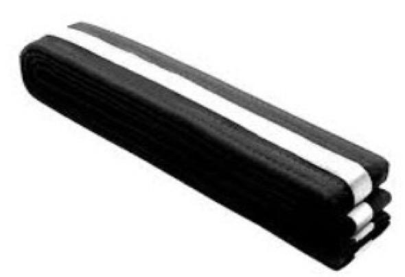 Пояс для единоборств Junior ITF Belt черно-белый Adidas