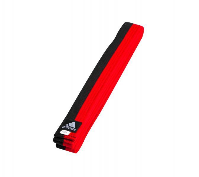 Пояс для единоборств Half-Half Poomse Belt черно-красный Adidas