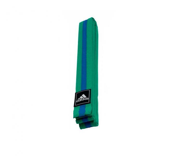 Пояс для единоборств Striped Belt зелено-синий Adidas