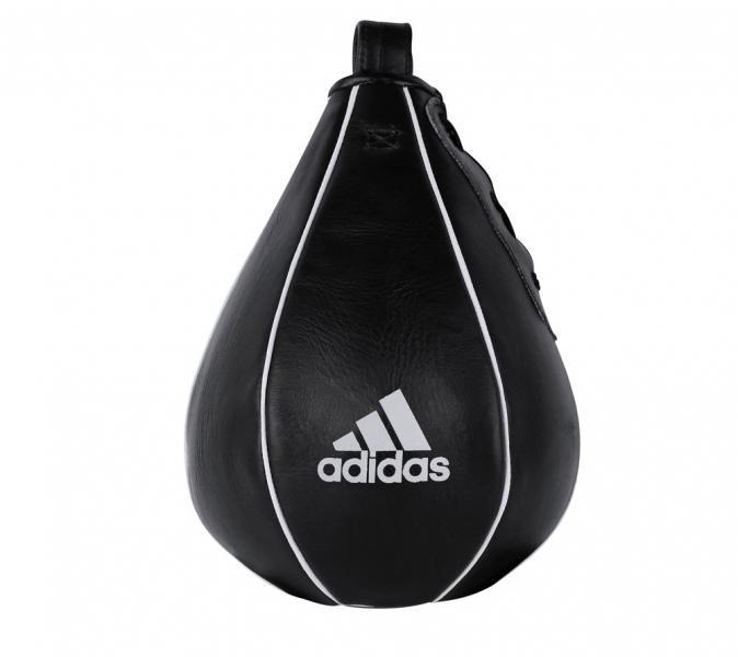 Груша пневматическая скоростная Speed Striking Ball Leather черная, 15 х 23 см AdidasСнаряды для бокса<br>Speed Striking Ball American StyleDouble End BoxbalБоксерская пневматическая груша из долговечной натуральной кожи.<br><br>Цвет: черная