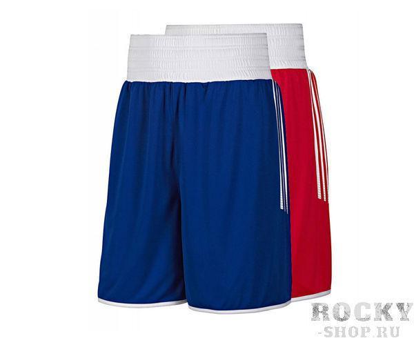 Купить Шорты боксерские двухсторонние Reversible Punch Shorts Adidas красно-синие (арт. 3802)