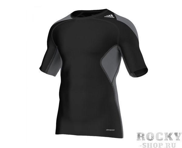 Купить Футболка компрессионная Techfit Chill черно-серая Adidas (арт. 3804)
