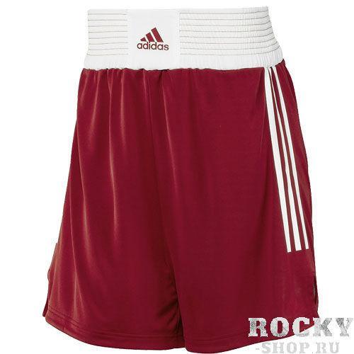 Шорты боксерские Box Shorts Classic Men красные, красные AdidasШорты для бокса<br>Мужские боксерские шорты Adidas Box Classic. Мягкая, легкая и дышащая ткань ClimaLite выводит влагу с кожи через материал на поверхность для ее дальнейшего испарения. Широкий эластичный пояс с логотипом надежно фиксирует шорты и поддерживает мышцы живота. По бокам контрастные полосы.<br><br>Размер INT: M