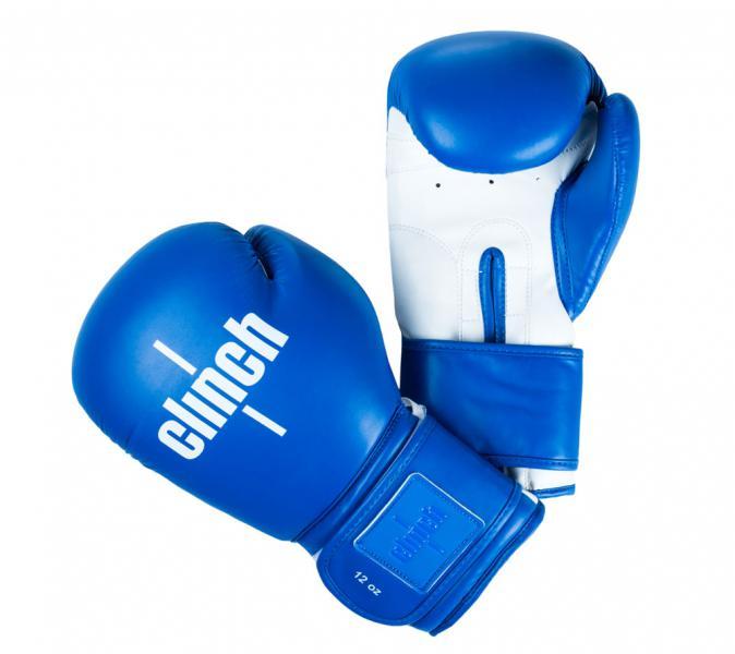 Перчатки боксерские Clinch Fight сине-белые, 12 унций Clinch Gear
