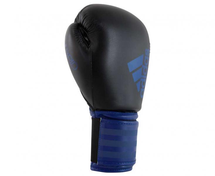 Перчатки боксерские Hybrid 100 черно-синие, 12 унций Adidas