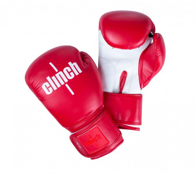 Перчатки боксерские Clinch Fight красно-белые, 14 унций Clinch Gear