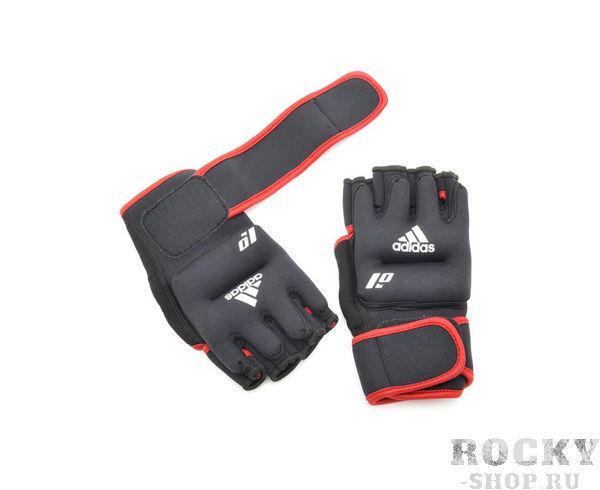 Перчатки с утяжелителями 0.5 кг Weighted Gloves черные AdidasCнарядные перчатки<br>Перчатки с утяжелителями Adidas ADWT-10702 Перчатки с утяжелителями Adidas. Конструкция этих перчаток с утяжелителями позволяет быстро надевать снимать их, они комфортны и практичны. Мягкий материал надежно облегает, давая вместе с тем ощущение свободы рук<br>
