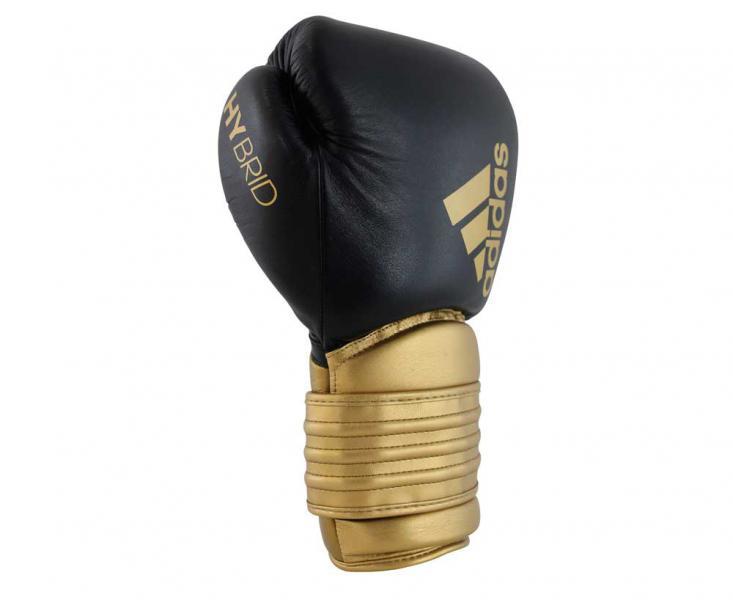 Перчатки боксерские Hybrid 300 черно-золотые, 14 унций Adidas