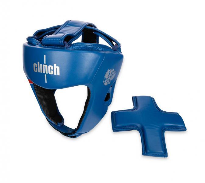 Шлем боксерский Clinch Olimp Dual синий Clinch Gear