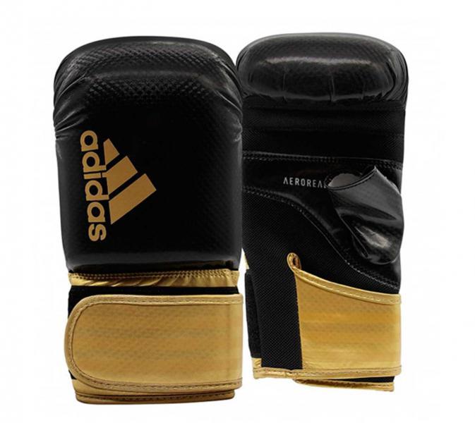 Перчатки снарядные Hybrid 75 Open Thumb черно-золотые Adidas