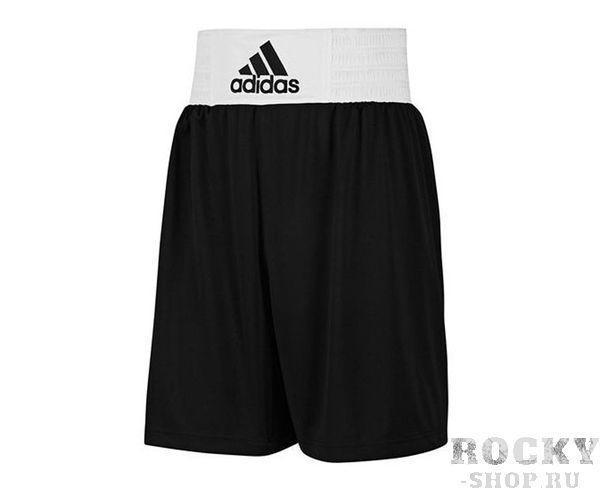 Шорты боксерские Base Punch Short черные, Черные AdidasШорты для бокса<br>Форма боксерская ADIDAS Base Punch Boxing. Материал: 100% Полиэстер. Мягкая, легкая ткань ClimaLite® для превосходящего управления влажностью. Эластичный пояс (в области талии). Улучшенный комфорт и свобода передвижения.<br><br>Размер INT: XL