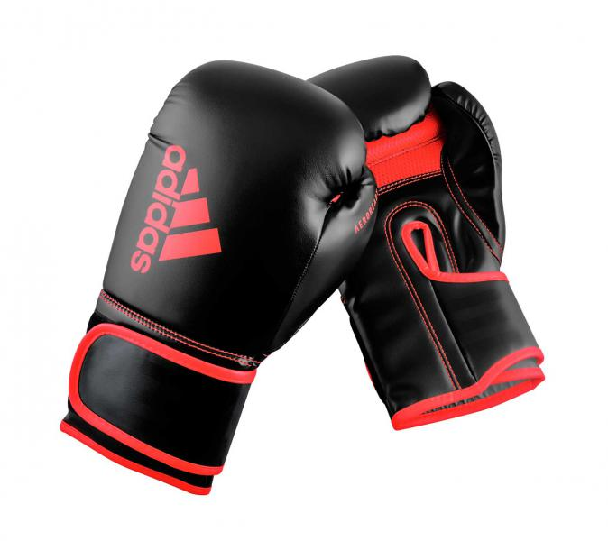 Перчатки боксерские Hybrid 80 черно-красные, 8 унций Adidas
