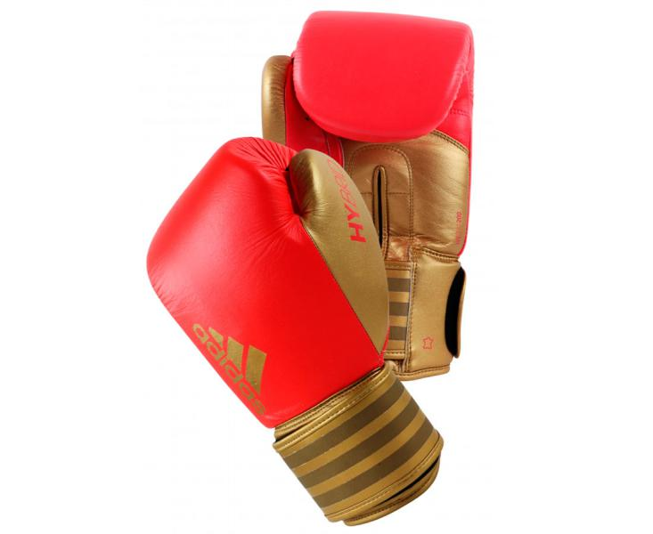 Перчатки боксерские Hybrid 200 красно-золотые, 12 унций Adidas