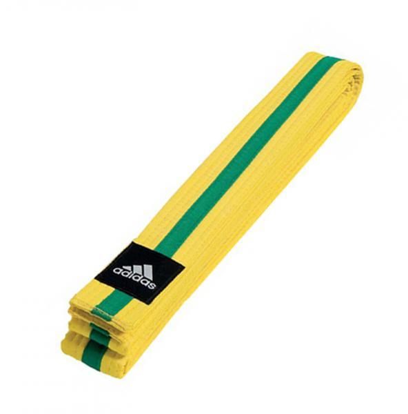 Пояс для единоборств Striped Belt желто-зеленый Adidas