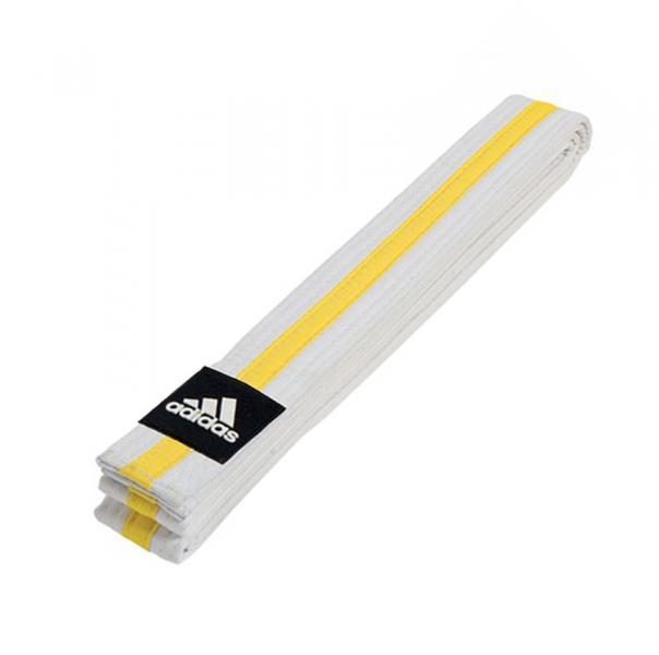 Пояс для единоборств Striped Belt бело-желтый Adidas