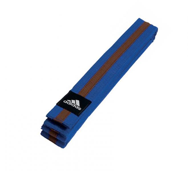 Пояс для единоборств Striped Belt сине-коричневый Adidas