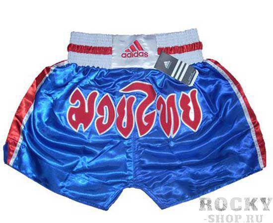 Купить Шорты для тайского бокса Thai Boxing Short Flag Adidas сине-красно-белые (арт. 3832)