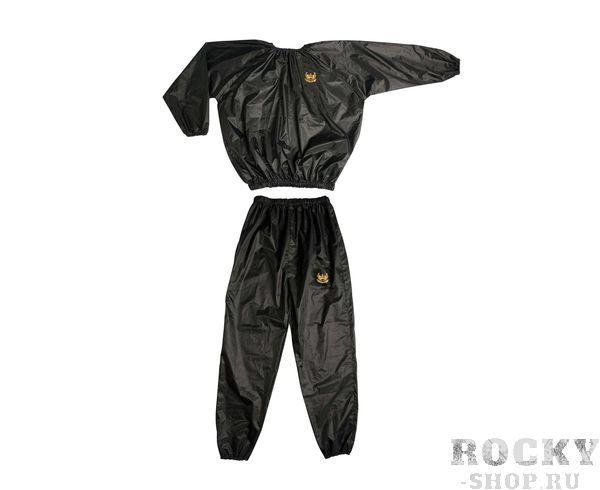 Костюм для сгонки веса Sauna Suit черный, черный AdidasКостюмы-сауны<br>Материал: нейлон, плотностью 170 gm/sqm ± 3%Крепёж: резинки на шее, запястьях, талии и в низу брюк. Костюм адидас сауна позволяет избежать охлаждения организма и тем самым позволяет увеличить транспирации. В сочетании с подходящими тренировки и адаптированы питания, костюм Adidas сауна идеально подходит для снижения веса. Создаётся парниковый эффект, при котором происходит сжигание жиров в десятикратном процессе, в отличии от простого бега в спортивной одежде!<br><br>Размер INT: M
