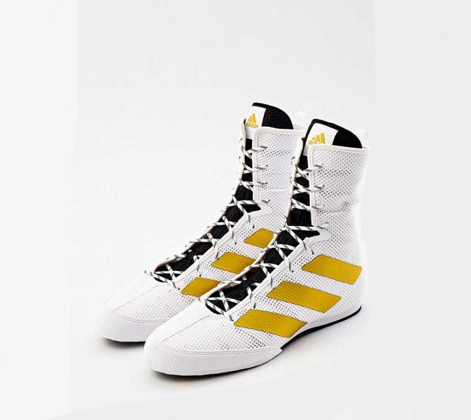 Боксерки Box Hog 3 бело-золотые Adidas