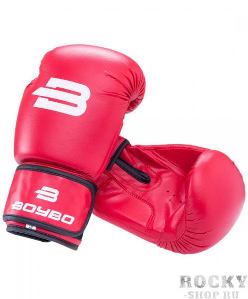 Детские боксерские перчатки BoyBo Basic Red, 2 OZ Boybo