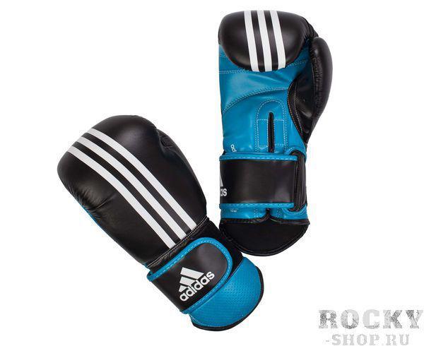 Купить Перчатки боксерские Power Protection черно-синие Adidas 10 унций (арт. 3840)