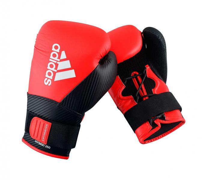 Перчатки боксерские Hybrid 250 красно-черные, 16 унций Adidas